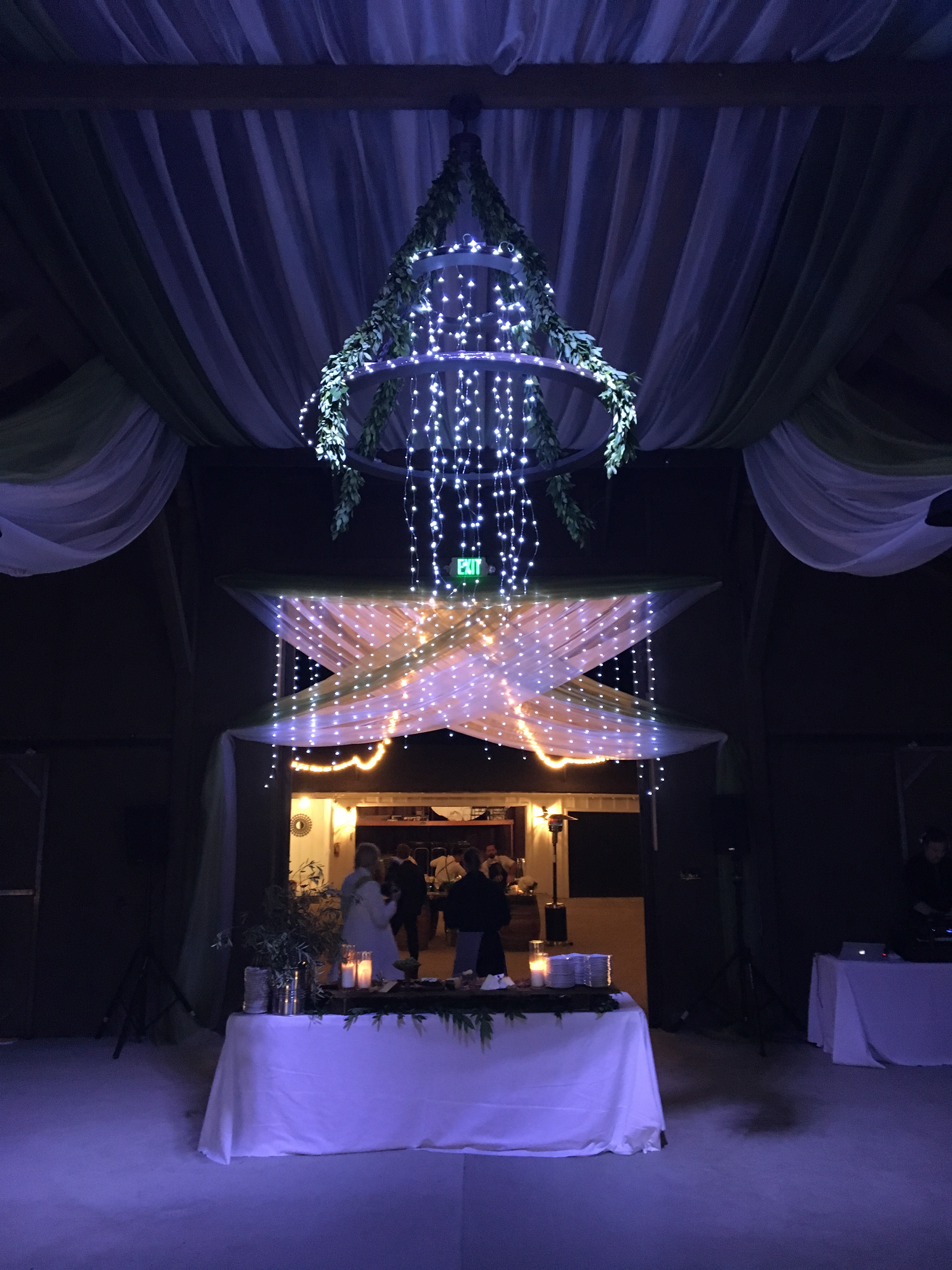 Pictures of chandeliers and lanterns available for rental from islay custom fairy light chandelier aloadofball Choice Image
