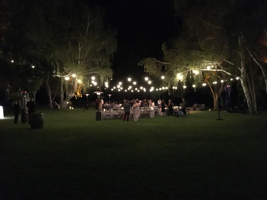 String Lighting at Whispering Rose Ranch